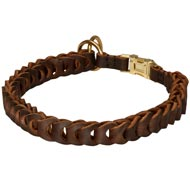 Mastiff Choke Leather Collar Braided