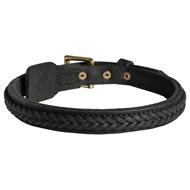Mastiff Braided Leather Collar 1 Inch