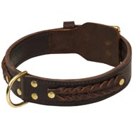 Incredible Design Mastiff Braided Leather Collar