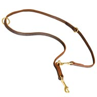 Multipurpose Leather Mastiff Leash for Training, Walking and Patrolling