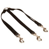 Triple Nylon Mastiff Leash Coupler for Walking 3 Dogs at a Time