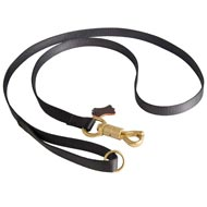 Police Tracking Nylon Mastiff Leash Features Massive Solid Brass Snap with Smart Lock