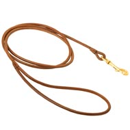 Round Leather Mastiff Leash for Dog Shows