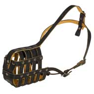 Royal Nappa Leather Basket Mastiff Muzzle