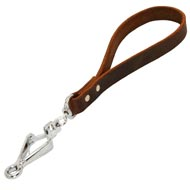 Short Leather Mastiff Leash with or without Support Material