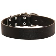 Wide Leather Mastiff Collar for Training and Walking