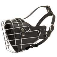 Leather Padded Wire Cage Mastiff Muzzle for Agitation Training