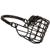 Frost-Resistant Wire Cage Mastiff Muzzle with One Adjustable Strap