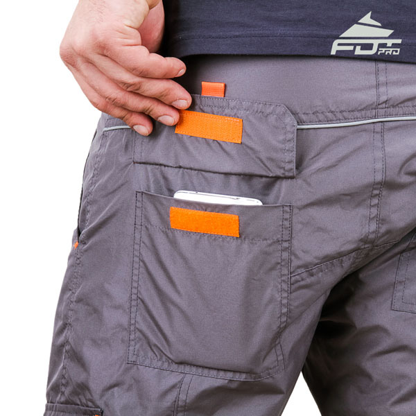 Convenient Design FDT Professional Pants with Useful Side Pockets for Dog Trainers