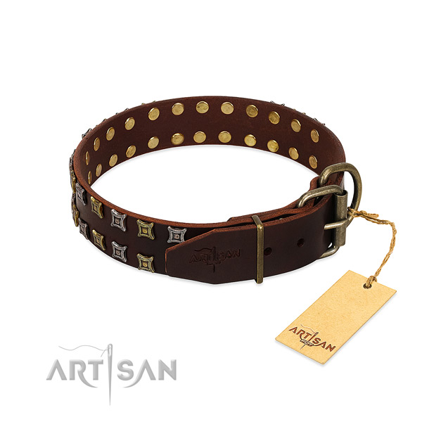 Best quality genuine leather dog collar created for your canine