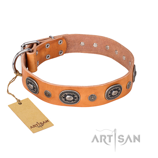 Top notch full grain natural leather collar created for your dog