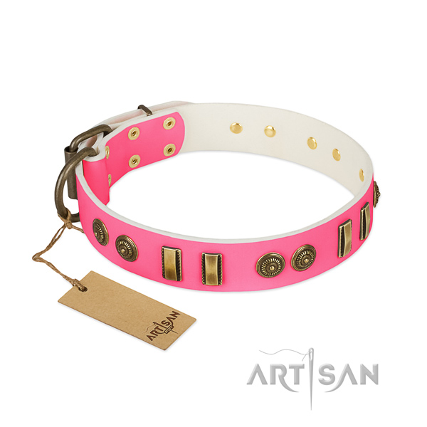 Inimitable leather collar for your dog