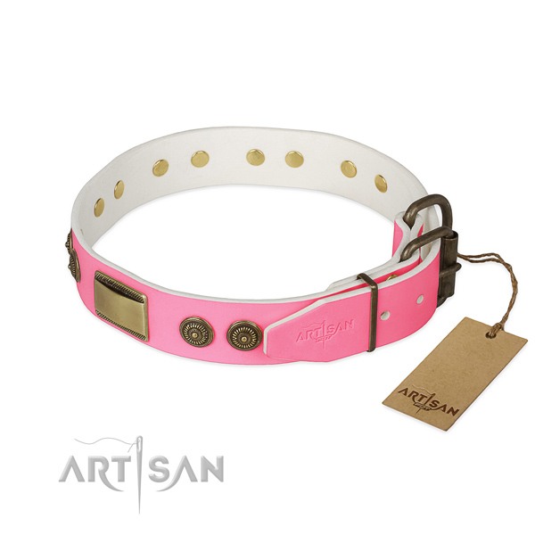 Durable decorations on daily use dog collar