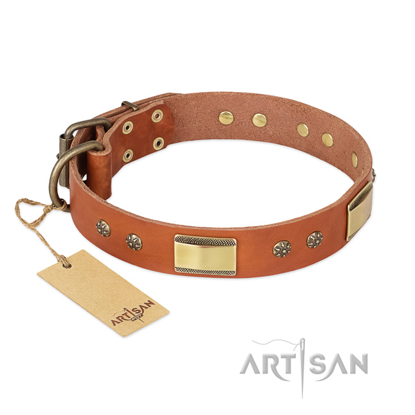 Inimitable full grain genuine leather collar for your dog