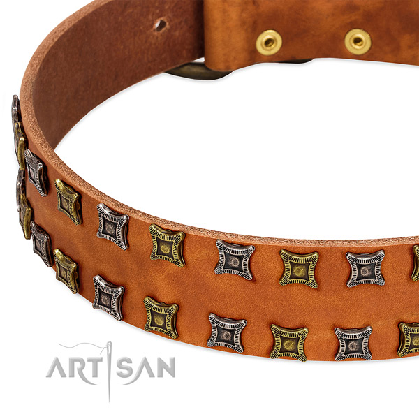 Best quality genuine leather dog collar for your stylish pet