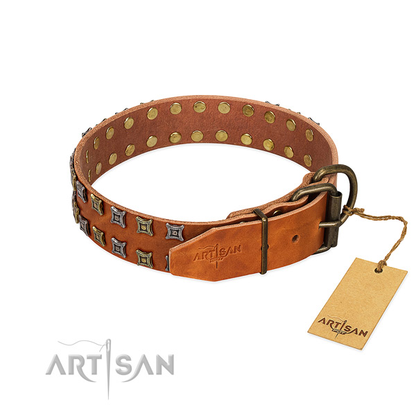 High quality leather dog collar created for your four-legged friend