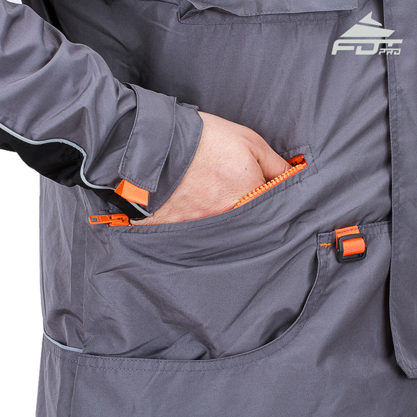 Grey FDT Pro Jacket with Durable Side Pockets