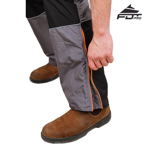 Durable Zippers on FDT Professional Pants for Dog Training