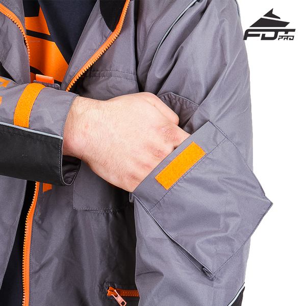 Strong Sleeve Pocket on Professional Design Dog Tracking Jacket