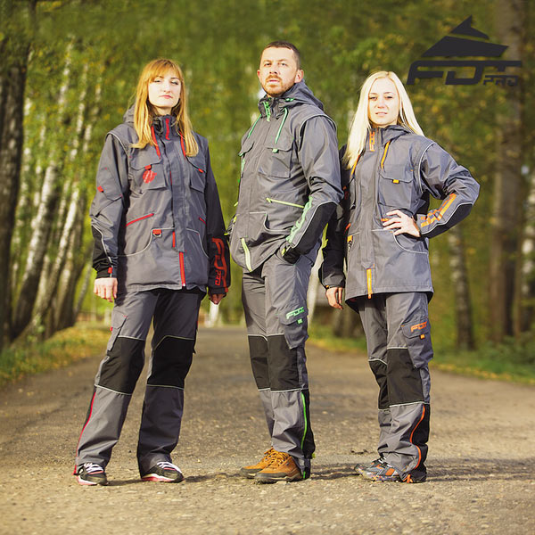Top Rate Dog Trainer Suit for Any Weather Use with Reflective Strap