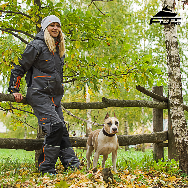 Pro Orange Logo on Men and Women Design Pants for Active Dog Training