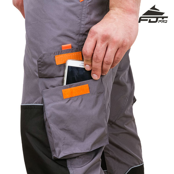 Durable Pants with Side Pockets on Velcro fastener