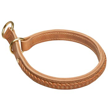 Mastiff Obedience Training Choke Braided  Leather Collar
