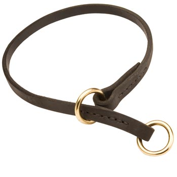 Mastiff Obedience Training Choke  Leather Dog Collar