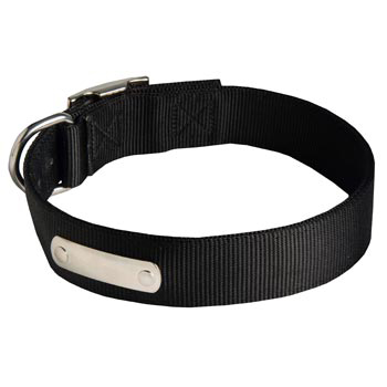 Nylon Mastiff Collar with Identification Tag
