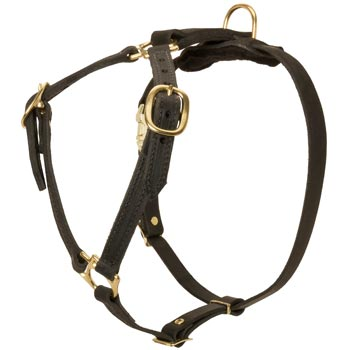 Leather Mastiff Harness Light Weight Y-Shaped for Tracking Dog