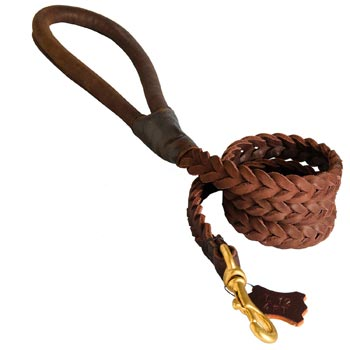 Multipurpose Leather Braided Mastiff Leash