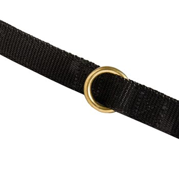 Nylon Mastiff Leash Solid Brass Ring