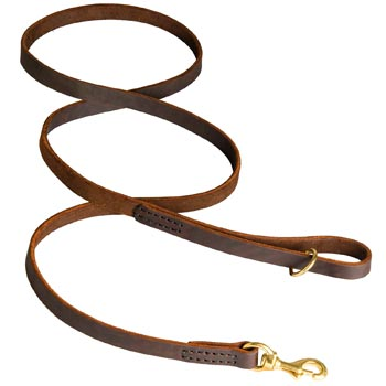 Classic Stitched Leather Mastiff Leash
