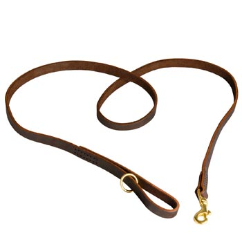 Durable Leather Mastiff Leash