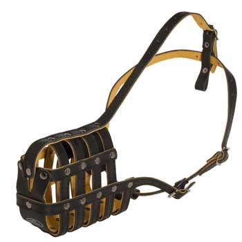 Leather Basket Mastiff Muzzle