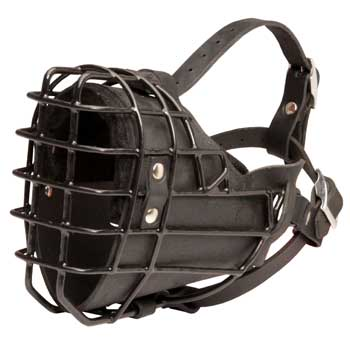 Winter Fully Wire Mastiff Padded Muzzle Cage