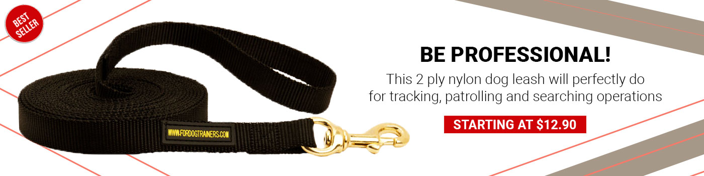 Nylon Mastiff Leash for Tracking and Training